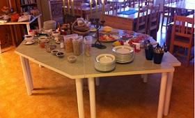 Breakfast at Orsa Hostel